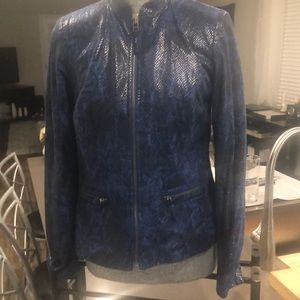 JM Collection faux snakeskin jacket